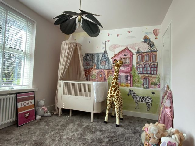 Behang babykamer